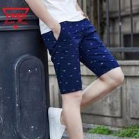 【戈斯威尔正品】纯棉五分裤男中裤大码男装休闲短裤