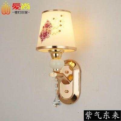 壁灯床头灯卧室简约现代欧式客厅背景墙酒店婚房单双头可调光灯具