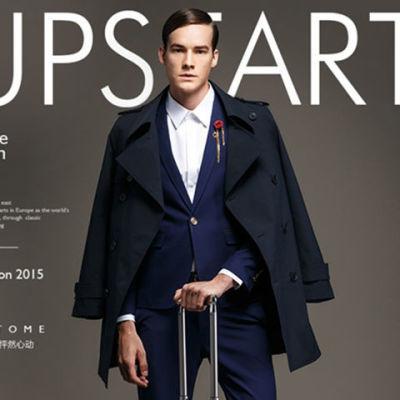 春秋韩版新款大码男士风衣修身型双排扣中长款黑色男装英伦外套