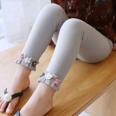 女童打底裤春夏款儿童外穿洋气女宝宝薄款长裤子休闲春秋装童裤