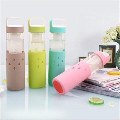 玻璃杯女便携花茶杯子韩国创意简约清新可爱带盖耐热手提学生水杯
