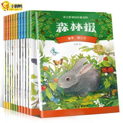 森林报春夏秋冬故事绘本全套12册注音版儿童科普三四五年级必读