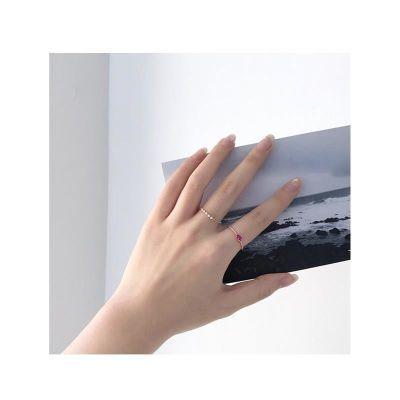 韩风少女心桃心爱心戒指ins极简冷淡风2个一套爱心锆石指环套戒指