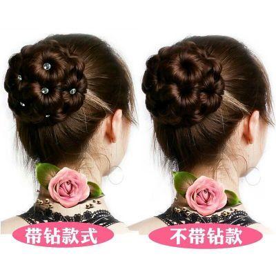 假发女发包九朵花抓夹式花苞头发夹盘发器头饰成人丸子头假发发圈
