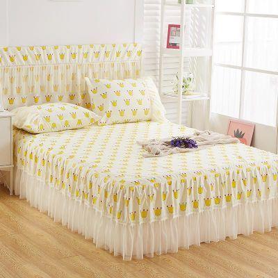 韩版蕾丝席梦思床头罩床裙床套单件韩式公主风床单