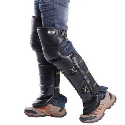 冬季电动车摩托车护膝挡风电瓶车骑车护腿保暖加厚男女防风寒水皮