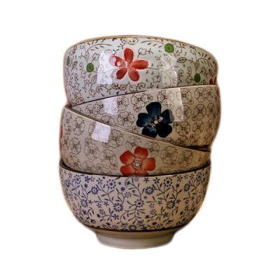 景德镇陶瓷碗吃饭碗釉下彩家用米饭碗小汤碗套装面碗大码日式简约
