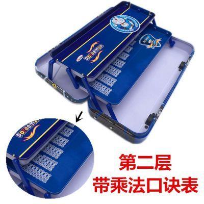 包邮小汽车文具盒哆啦A梦三层大容量铅笔盒小学生男儿童带轮子
