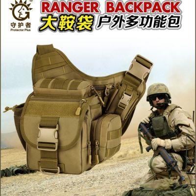 守护者单肩斜跨男女包单反相机摄影包军迷户外战术多功能大鞍袋包