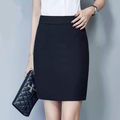 职业半身裙女新款弹力包臀裙高腰一步短裙黑色西装裙工作裙子正装