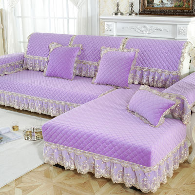 沙发垫欧式毛绒四季通用加厚防滑高档沙发套组合沙发巾可机洗定做