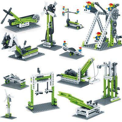 乐高齿轮积木科教益智拼装教学物理知识机械式原理男女孩人气玩具