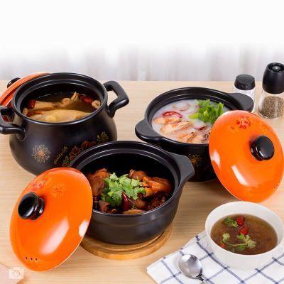 新品砂锅耐高温养生汤煲陶瓷小沙锅煲汤锅炖锅明火家用燃气汤锅