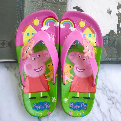 夏季儿童拖鞋女童男孩可爱卡通小孩中童沙滩夹脚趾人字拖防滑凉拖