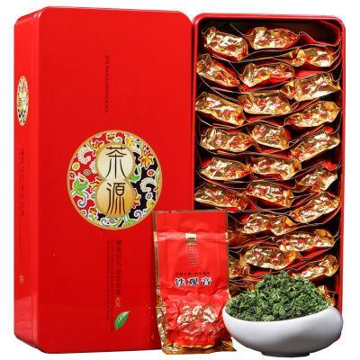 【冬之吟】新茶铁观音茶叶浓香型500g礼盒装送礼小袋泡装乌龙茶