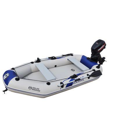 三人快艇充气船橡皮艇加厚钓鱼船皮划艇冲锋舟夹网气垫漂流船硬底