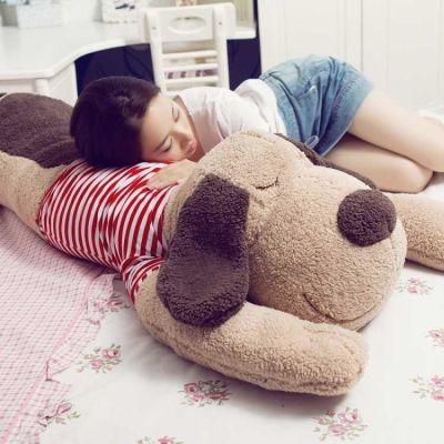 趴趴狗毛绒玩具狗狗布娃娃小狗公仔长条枕玩偶可拆洗女孩睡觉抱枕