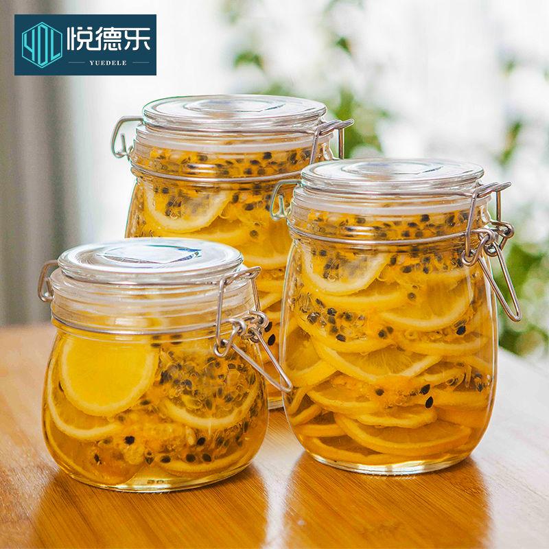 密封罐玻璃瓶带盖家用食品储物罐腌制瓶子泡菜柠檬百香果蜂蜜