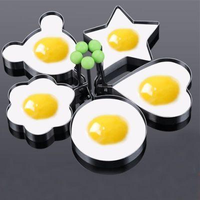 【加厚超值5个装/1个装】宝宝早餐厨房不锈钢煎蛋器荷包蛋模型