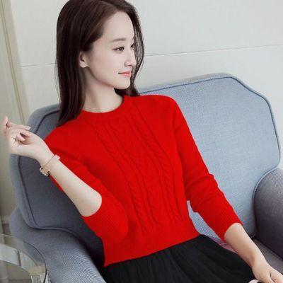 短款毛衣女韩版冬季新款秋冬针织打底衫加绒上衣长袖小个子毛线衣