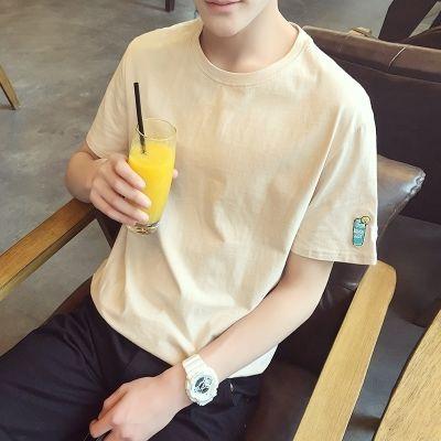夏季2018新款男士短袖T恤宽松体恤半袖韩版男生打底衫潮流上衣服