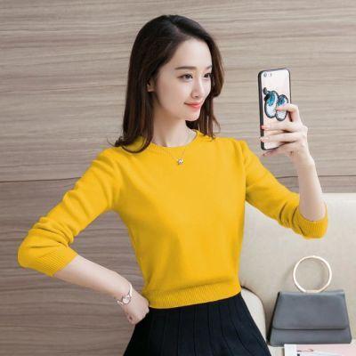 毛衣女短款新款针织衫韩版上衣秋季保暖衣长袖加绒打底衫女士冬季