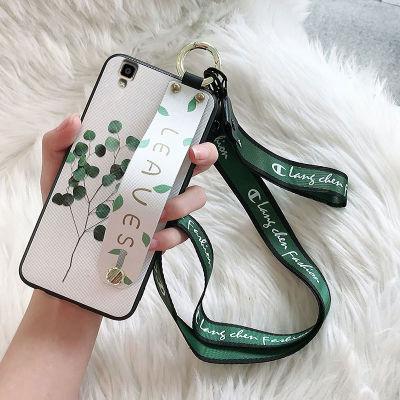 oppor7s手机壳女款r7splus保护套r7t硅胶r7sm挂绳腕带r7c小清新潮