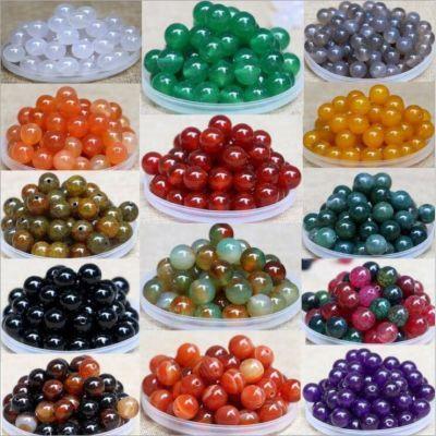 【天然玛瑙精选100颗】玛瑙散珠玉石散珠水晶玉珠子散珠珠diy配件