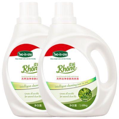 柔妮茶树精油洗衣液机洗手洗持久留香6.72斤两瓶无磷无荧光剂