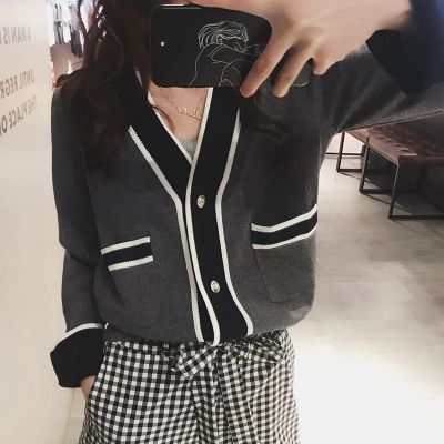 春季小香风外套女外搭开衫毛衣女学生韩版宽松针织衫2019新款上衣