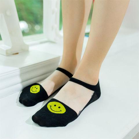 【8双装】袜子女薄款透明玻璃丝水晶丝袜短袜隐形袜女士防滑船袜