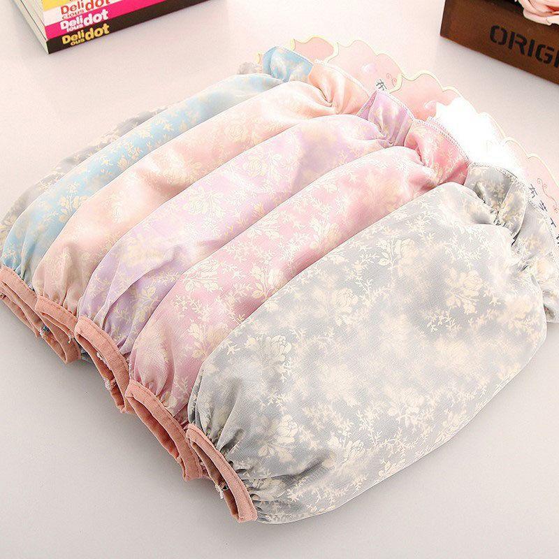 冬季双层蕾丝袖套女防脏护袖学生成人防污防水套袖网纱长短款袖头的细节图片6