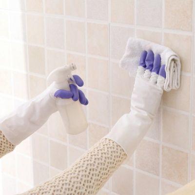 3双厨房女洗碗塑胶家务乳胶刷洗衣服橡胶胶皮手套薄款防水耐用型�