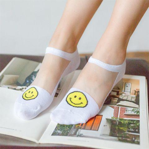 便宜的【春夏8双装】袜子女短袜水晶玻璃丝袜蕾丝隐形袜船袜女士夏丝袜