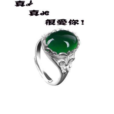 ?钻戒指女带钻戒指女925银镶嵌小钻食指戒指女开口戒指男单身潮人