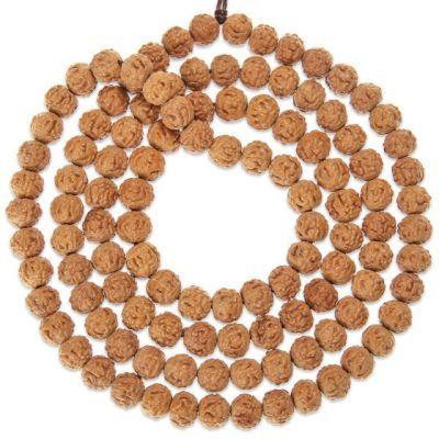 正宗尼泊尔108颗金刚菩提子手串五瓣爆肉红皮原籽佛珠男女款手链