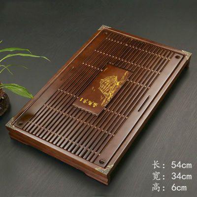 钧瓷茶具烧烤托盘子家用创意塑料德化钢玻璃方形荼长大号日式34不