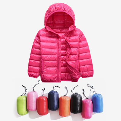 冬季新款儿童羽绒服轻薄款短款男童女童秋冬季超轻便连帽羽绒外套