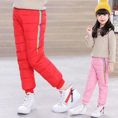 新款儿童羽绒裤冬季宝宝棉裤男童夹棉保暖裤女童加厚外穿秋冬裤子