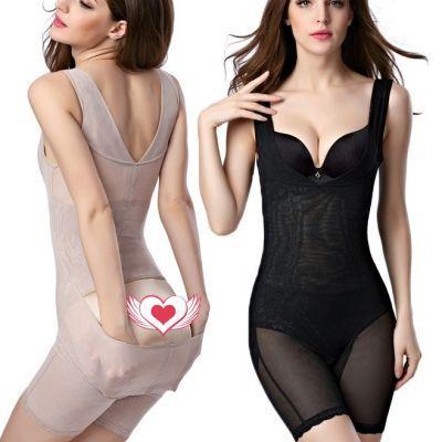 【加强版 后脱式1/2件装】便脱式产后平腿连体塑身衣收腹瘦身内衣