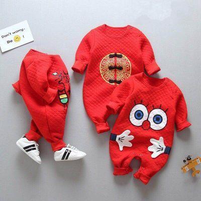 新生婴儿连体衣保暖小孩冬天衣服一岁男宝宝秋装3个月九六1女四三