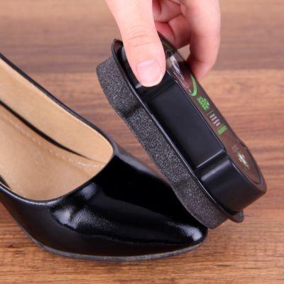 3个装一擦即亮皮鞋擦 擦皮鞋 皮鞋神器双面海绵擦 无色鞋蜡鞋油刷