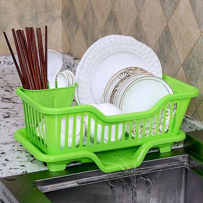 加厚大号碗筷沥水架塑料碗架碗碟沥水置物架餐具漏水篮子厨房收纳