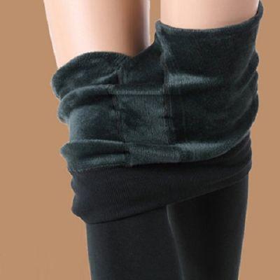 【超柔保暖】光面抗起球加绒加厚打底裤袜冬季女外穿大码显瘦