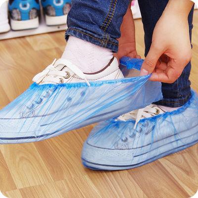 一次性鞋套加厚家用耐磨透气防滑脚套室内100只装鞋套