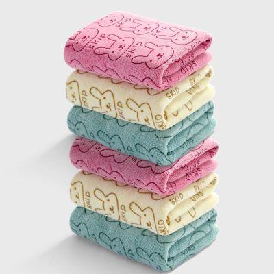 【4条装】超细纤维毛巾 面巾 儿童成人家用洗脸巾 柔软吸水干发巾