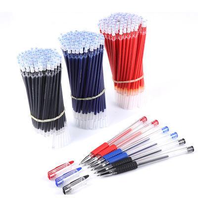 中性笔芯批发0.5mm子弹头黑色红色蓝色全针管水笔芯 碳素笔替芯