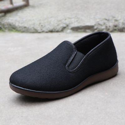 老北京布鞋低帮男棉鞋呢子加绒冬季保暖防滑软底中老年民族风传统