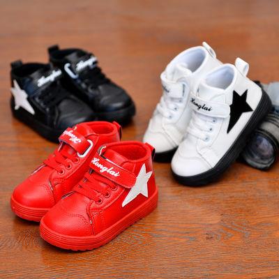 棉鞋男童鞋保暖高帮儿童鞋女冬季男孩童鞋板鞋运动鞋中大童小白鞋