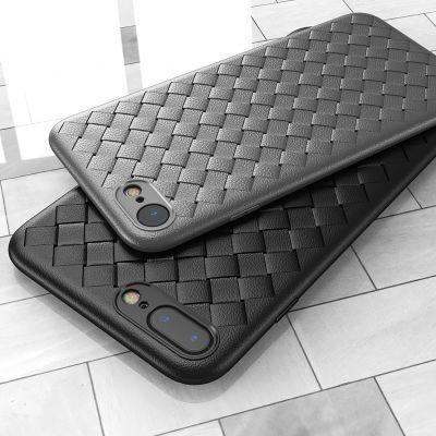 苹果6s 7 Iphone8手机壳6plus编织软壳SE2 皮纹防摔透气ipX保护套